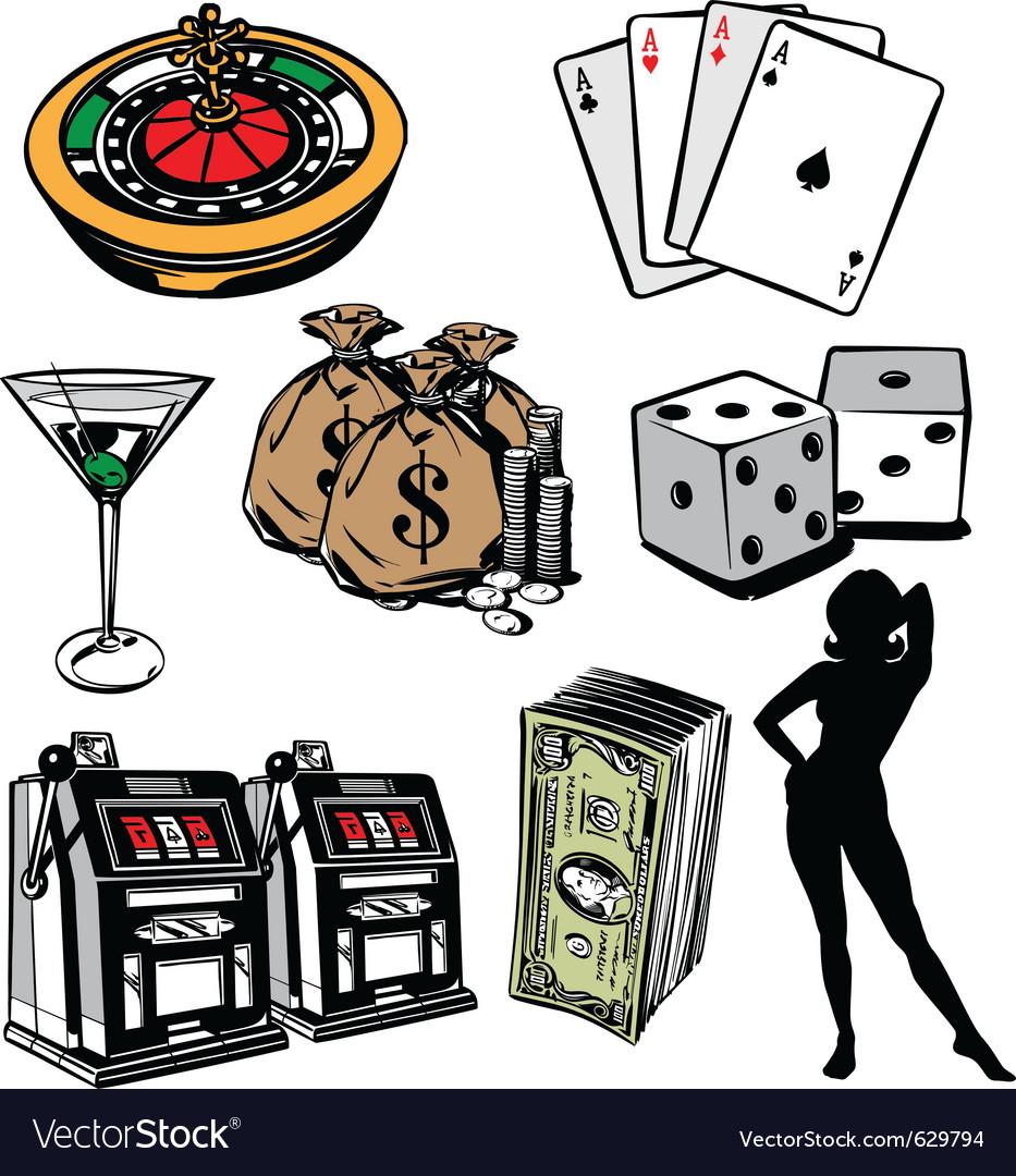 Casino elements vector | Price: 1 Credit (USD $1)