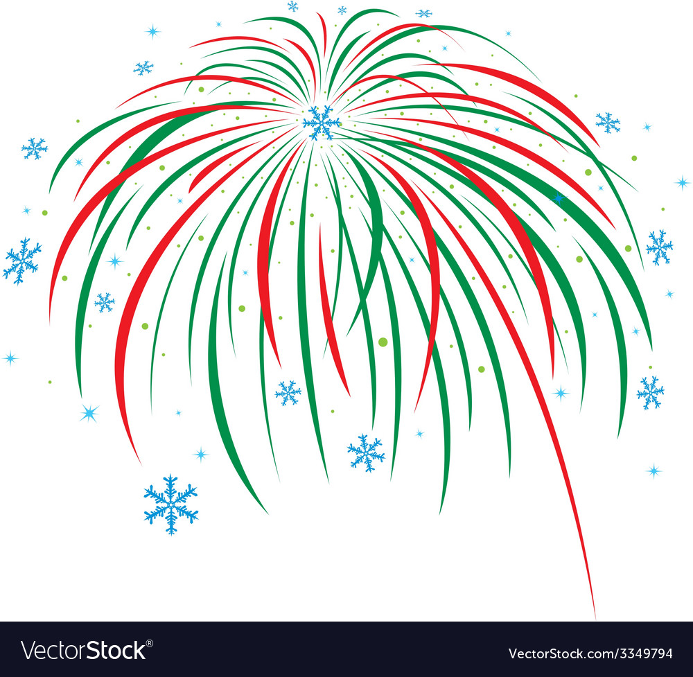 Christmas firework design on white background vector   Price: 1 Credit (USD $1)
