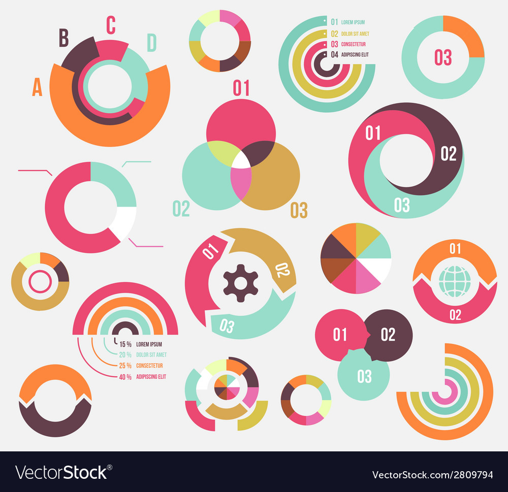 Circle charts vector | Price: 1 Credit (USD $1)