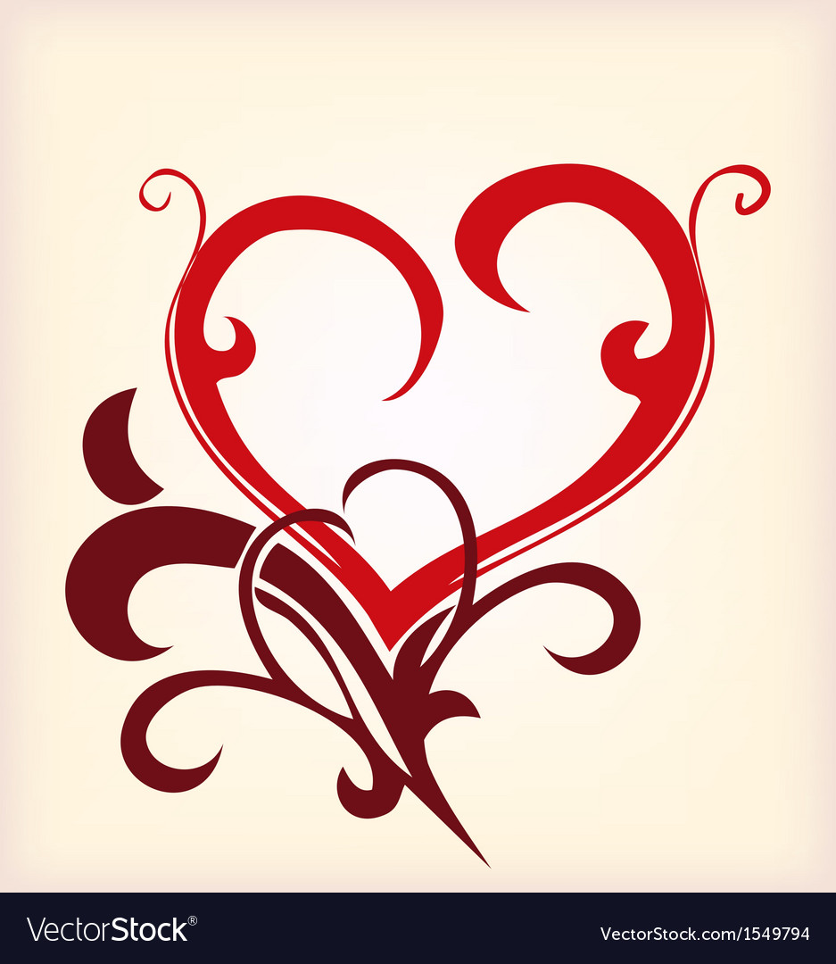 Decoration heart vector | Price: 1 Credit (USD $1)