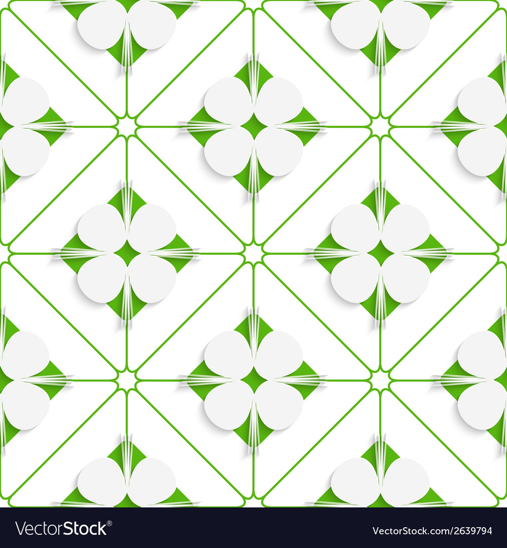 Diagonal clove leaves on green pattern vector | Price: 1 Credit (USD $1)