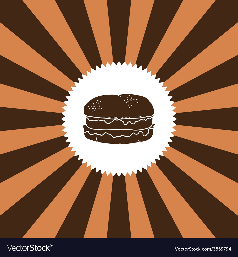 Food and drink theme burger vector | Price: 1 Credit (USD $1)