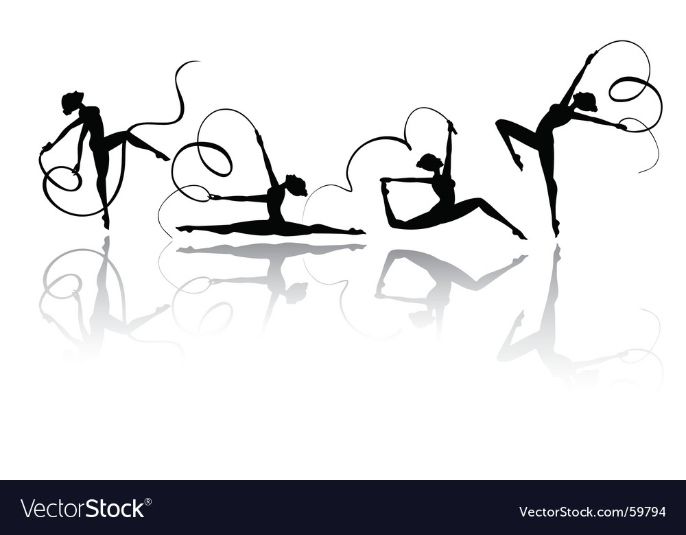 Gymnastic silhouettes vector | Price: 1 Credit (USD $1)