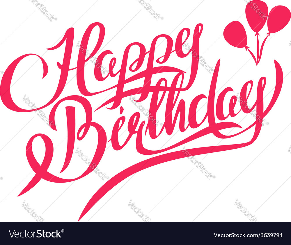 Happy birthday lettering - design element vector | Price: 1 Credit (USD $1)