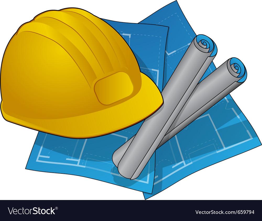 Hardhad and blueprints vector   Price: 1 Credit (USD $1)