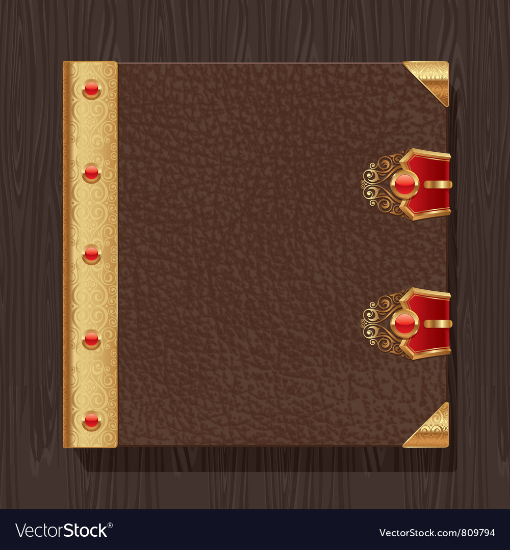 Leather vintage book hardcover vector | Price: 3 Credit (USD $3)