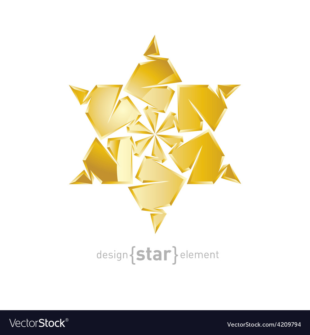 Luxury golden star on white background vector | Price: 1 Credit (USD $1)