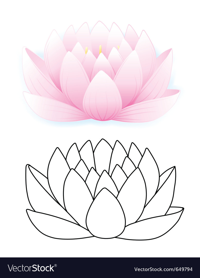 Pink lotus vector | Price: 1 Credit (USD $1)