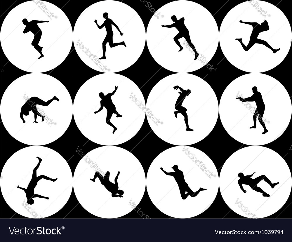 Silhouettes - extreme movement vector | Price: 1 Credit (USD $1)