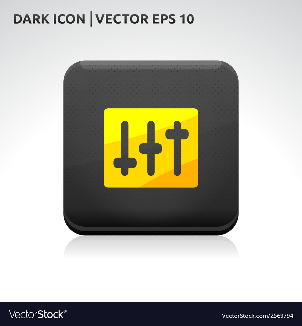 Volume settings icon gold vector | Price: 1 Credit (USD $1)