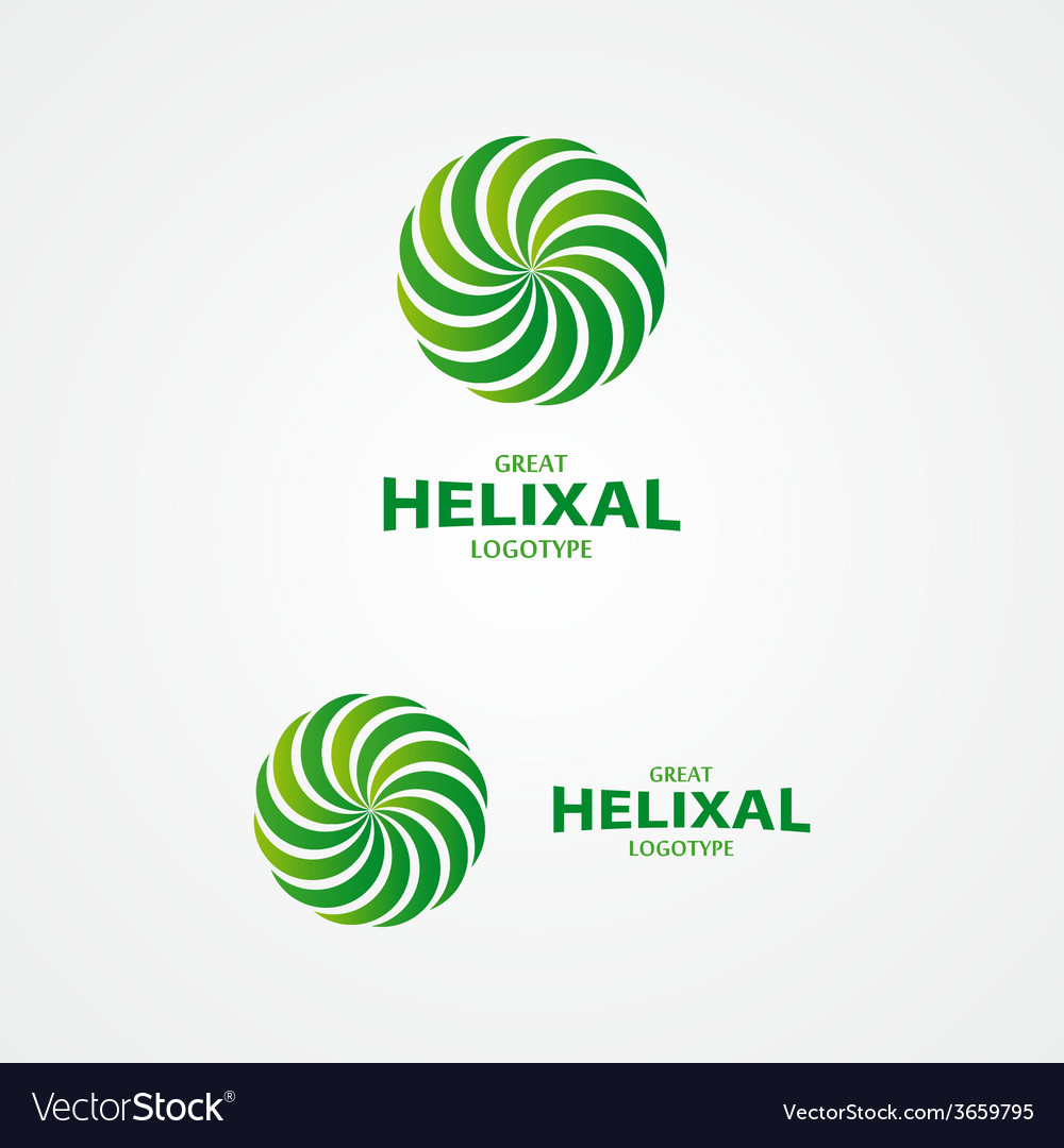 Abstract helix logo vector | Price: 1 Credit (USD $1)