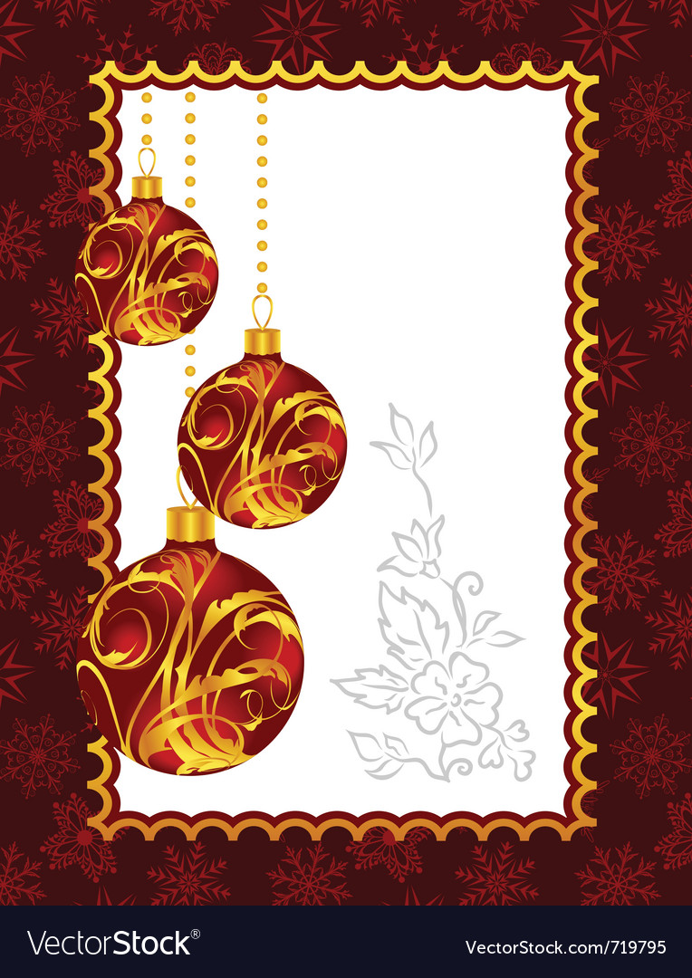 Celebration christmas card with balls - vector | Price: 1 Credit (USD $1)