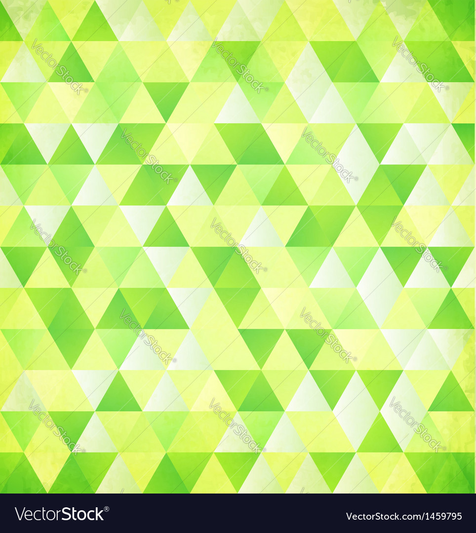 Green abstract triangle vintage background vector | Price: 1 Credit (USD $1)