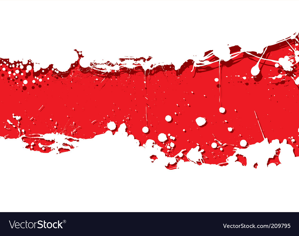 Grunge strip background red splat vector | Price: 1 Credit (USD $1)