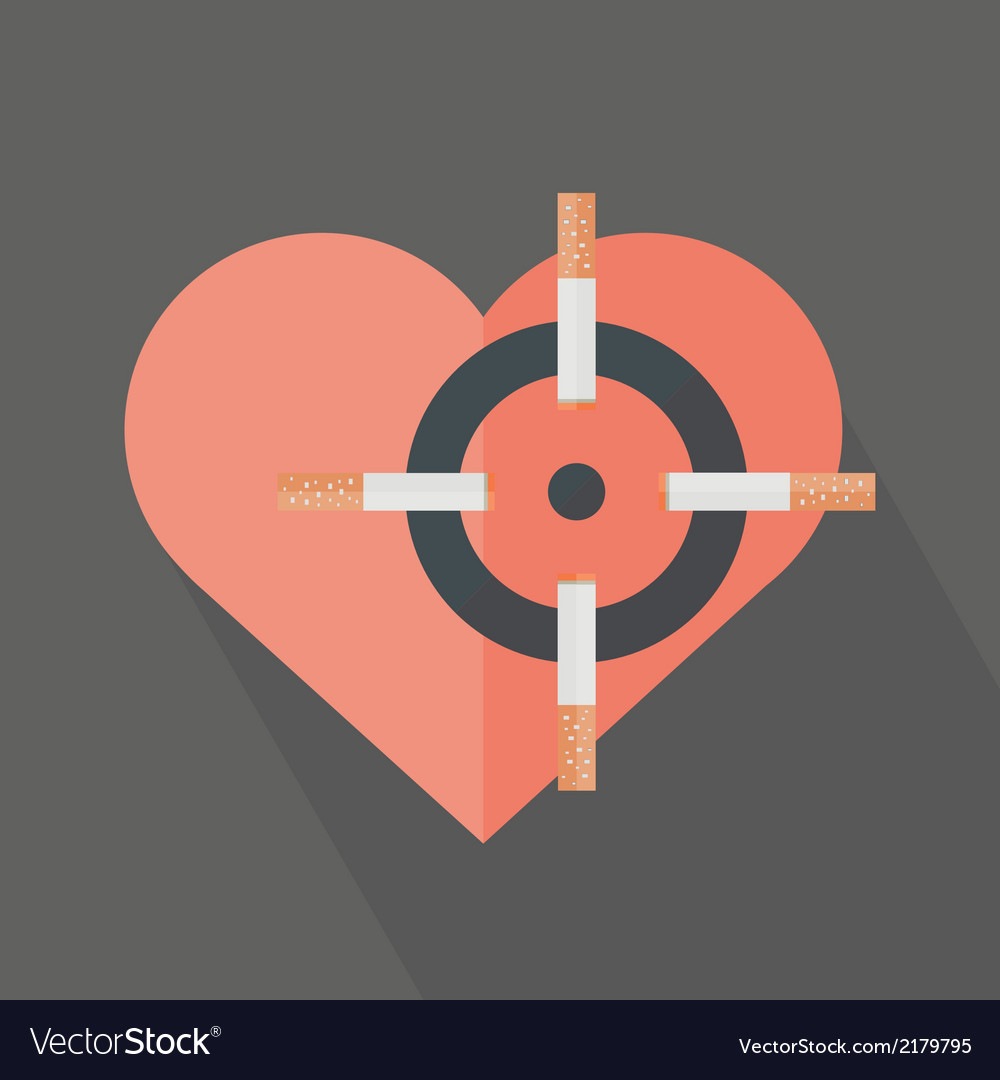 Hearth attack by cigarettes vector | Price: 1 Credit (USD $1)