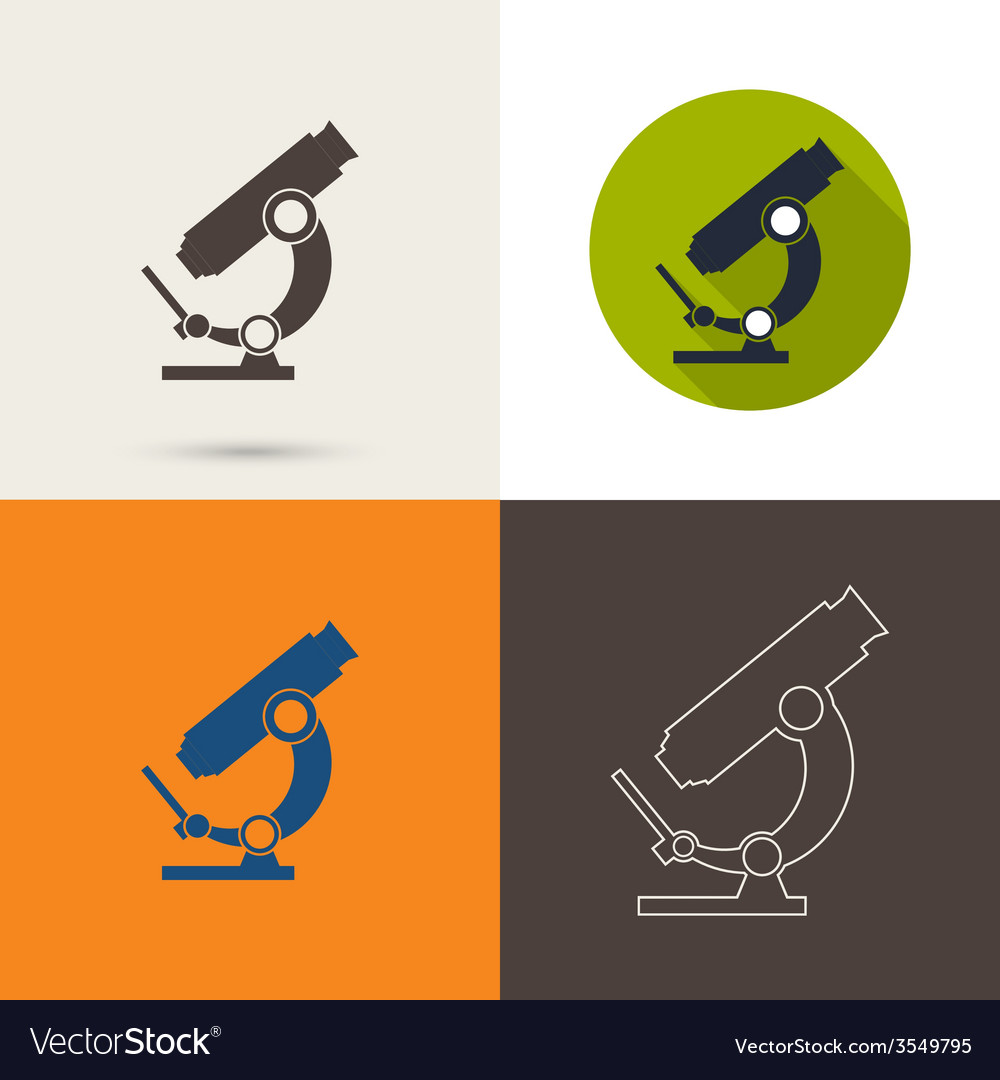 Icons with a microscope vector | Price: 1 Credit (USD $1)