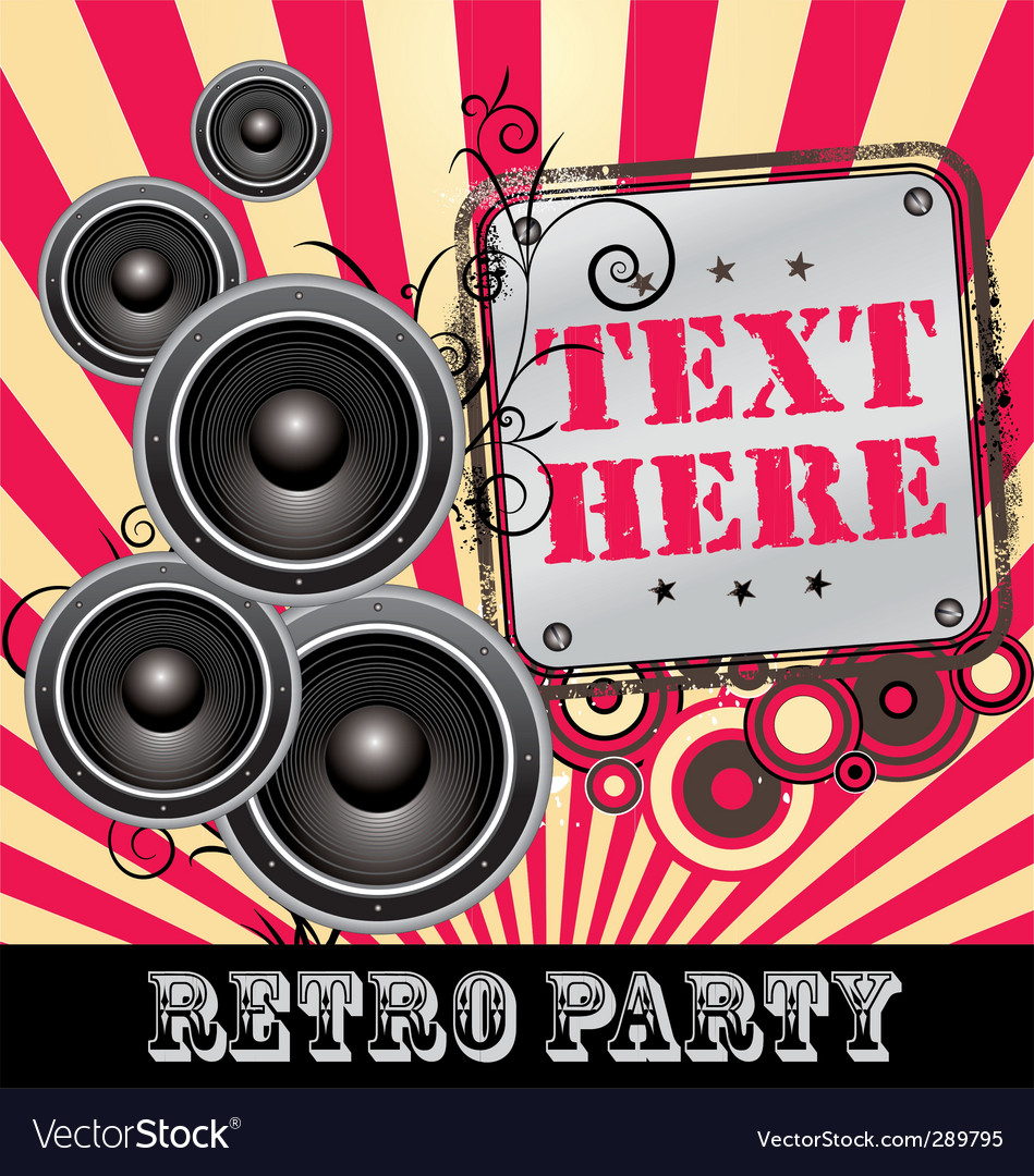 Retro dj party vector | Price: 1 Credit (USD $1)