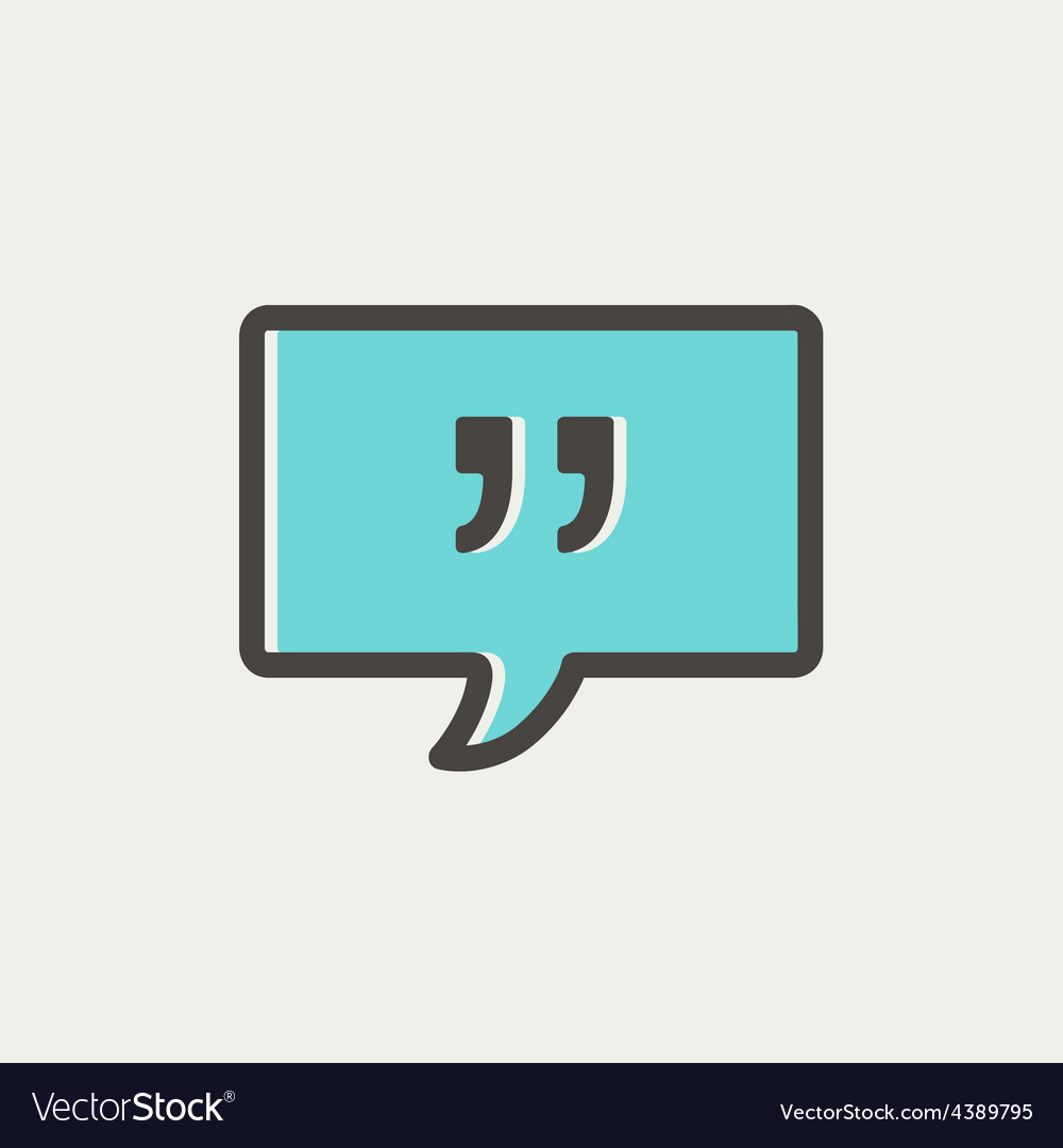 Speech bubble with punctuation symbol thin line vector | Price: 1 Credit (USD $1)