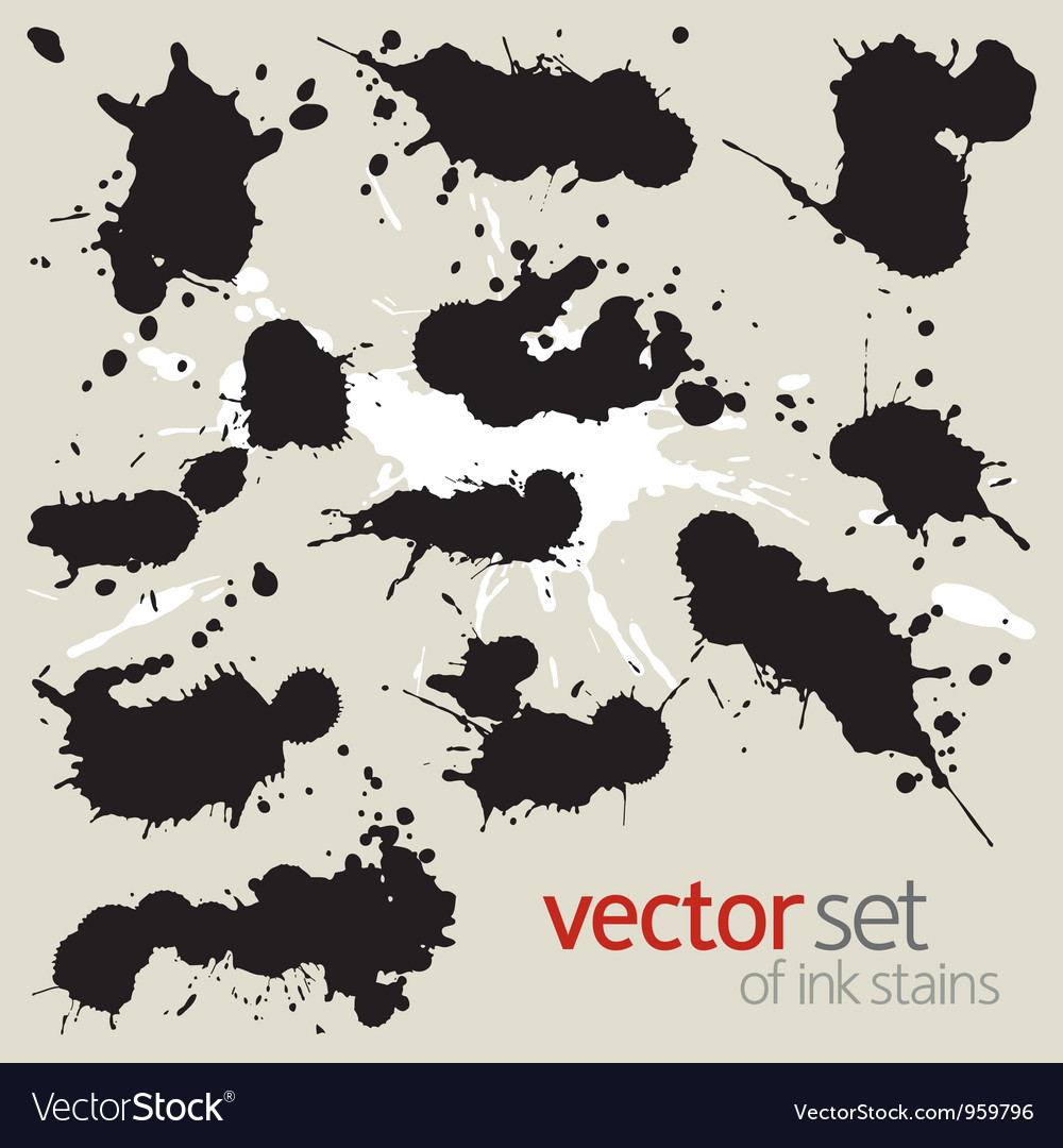 Big set of ink stains vector | Price: 1 Credit (USD $1)