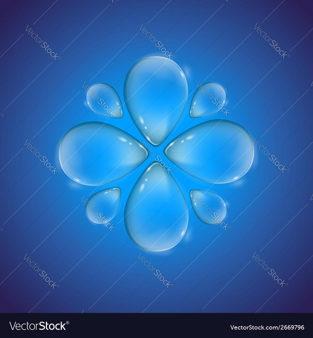 Drop flower vector | Price: 1 Credit (USD $1)