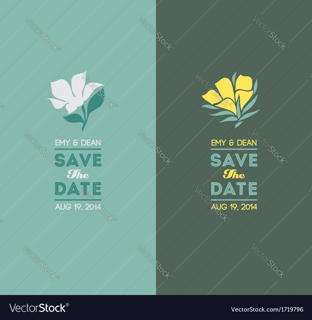 Elegant flowers wedding graphic set vector | Price: 1 Credit (USD $1)