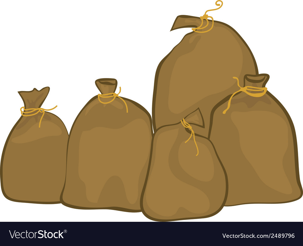 Group of sacks vector | Price: 1 Credit (USD $1)