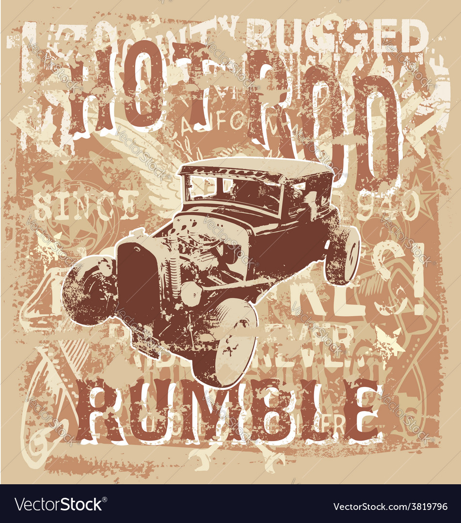 Hot rod rumble vector | Price: 1 Credit (USD $1)