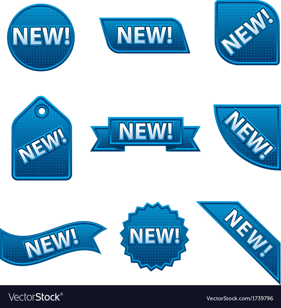 New badges blue vector | Price: 1 Credit (USD $1)