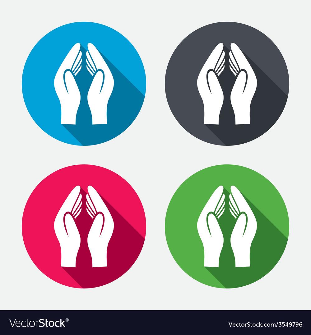 Pray hands sign icon religion priest symbol vector | Price: 1 Credit (USD $1)