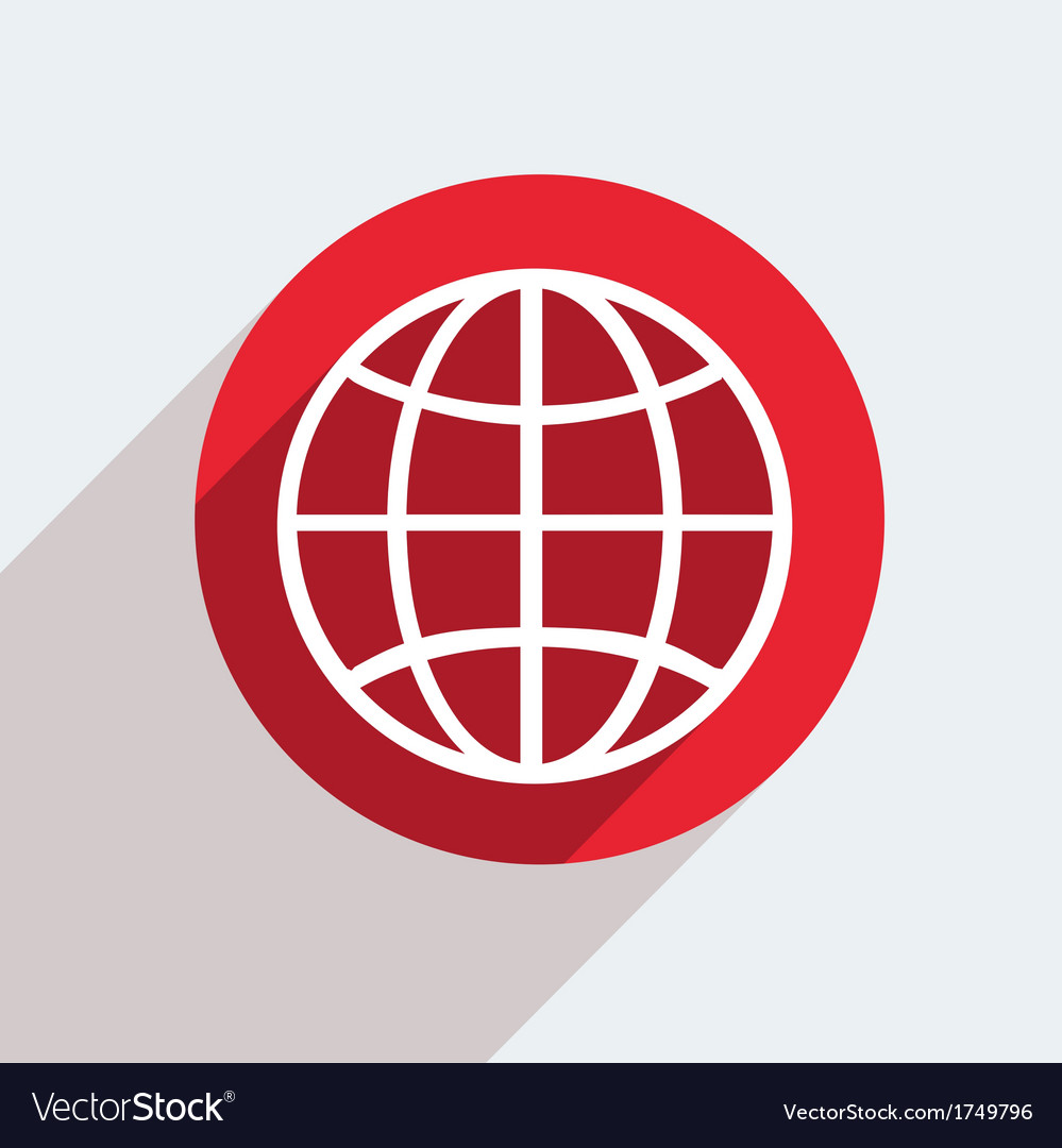 Red circle icon on gray background eps10 vector   Price: 1 Credit (USD $1)