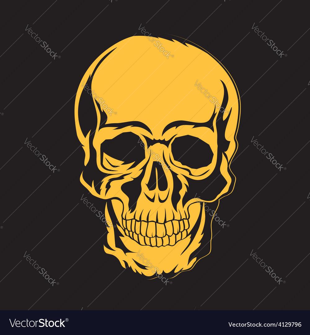 Skull t-shirt design tatoo art vector | Price: 1 Credit (USD $1)