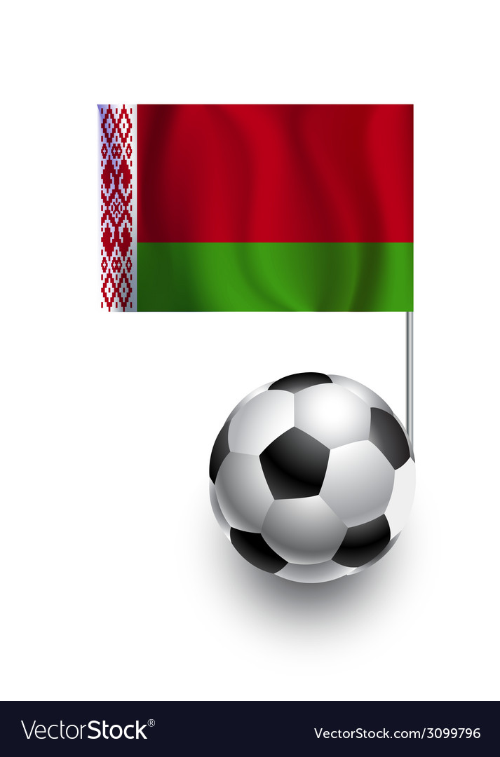 Soccer balls or footballs with flag of belarus vector | Price: 1 Credit (USD $1)