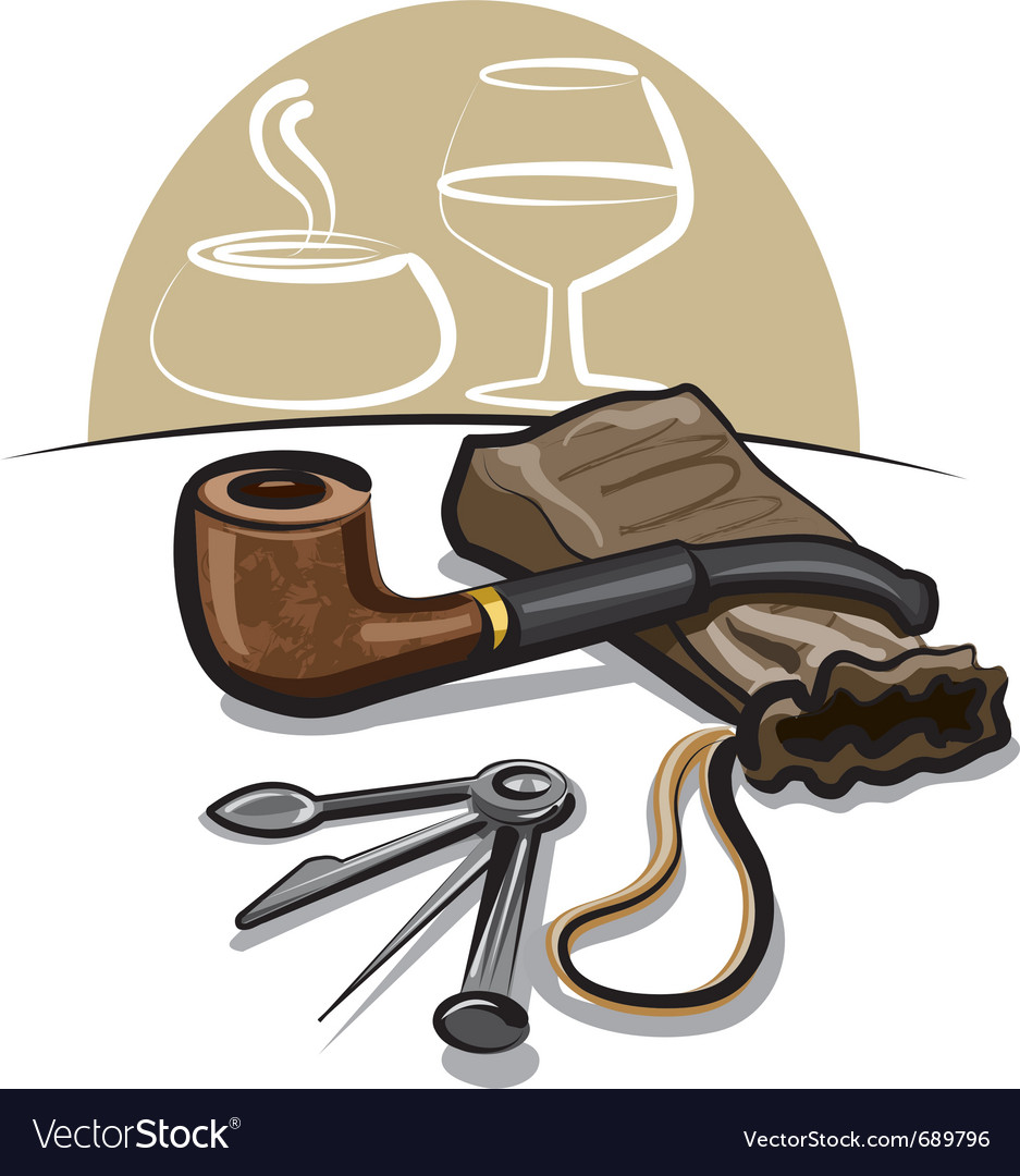 Tobacco pipe vector | Price: 3 Credit (USD $3)