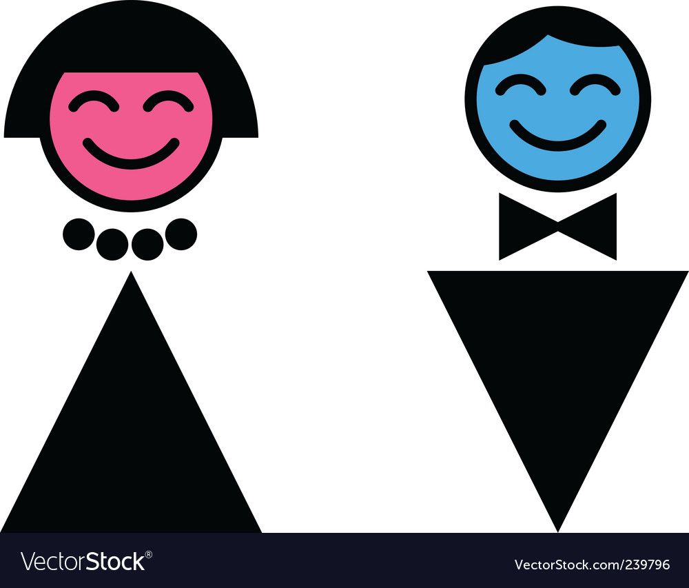 Toilet sign man and woman vector | Price: 1 Credit (USD $1)
