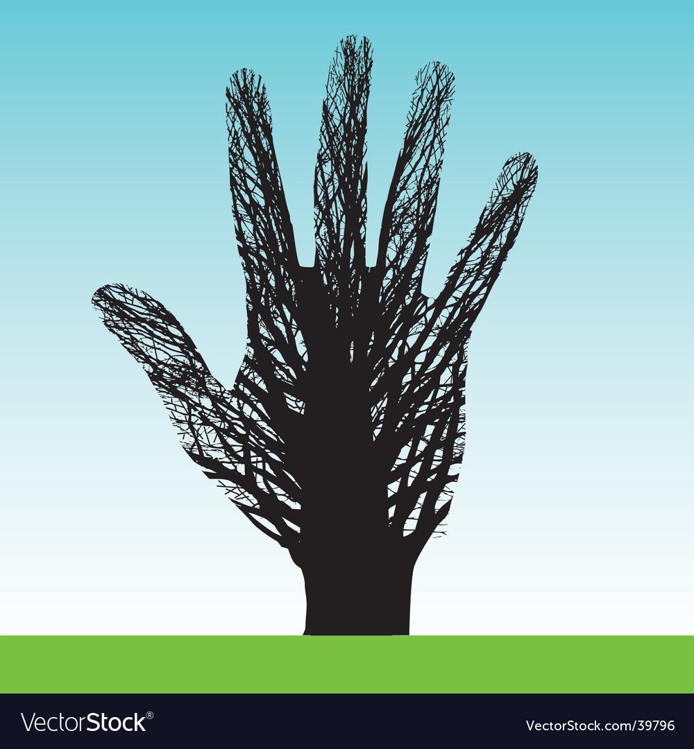 Tree hand vector | Price: 1 Credit (USD $1)