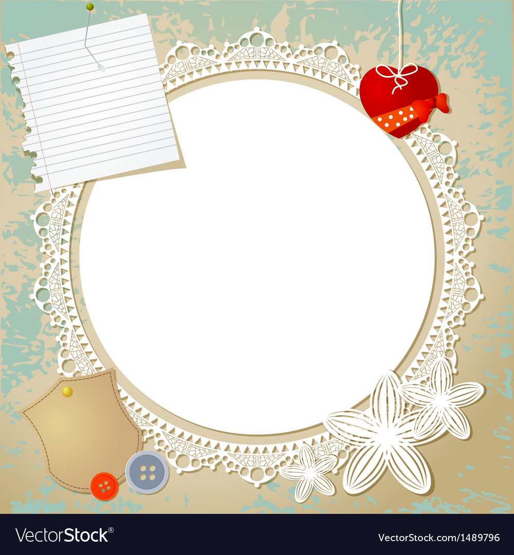 Vintage doily on the old grunge background vector | Price: 1 Credit (USD $1)
