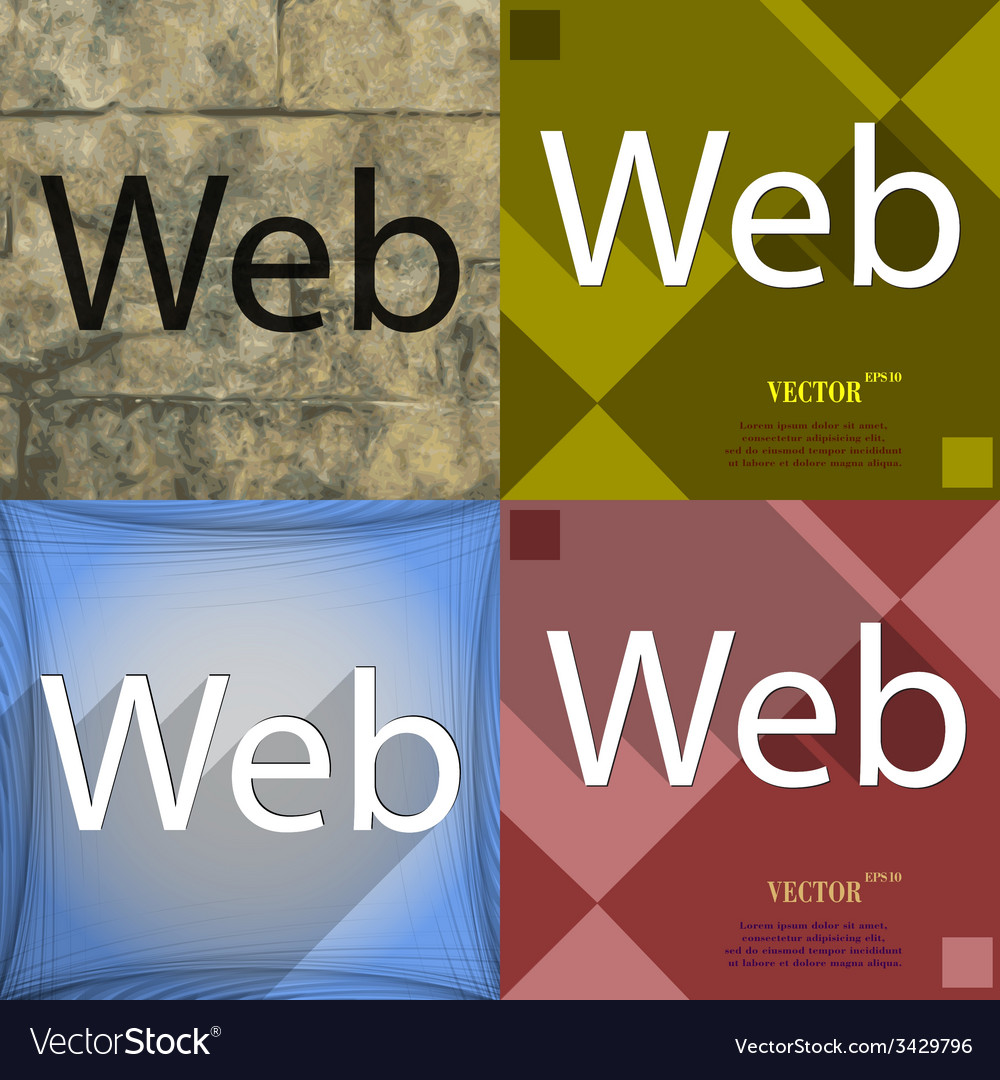 Web icon symbol flat modern design vector | Price: 1 Credit (USD $1)