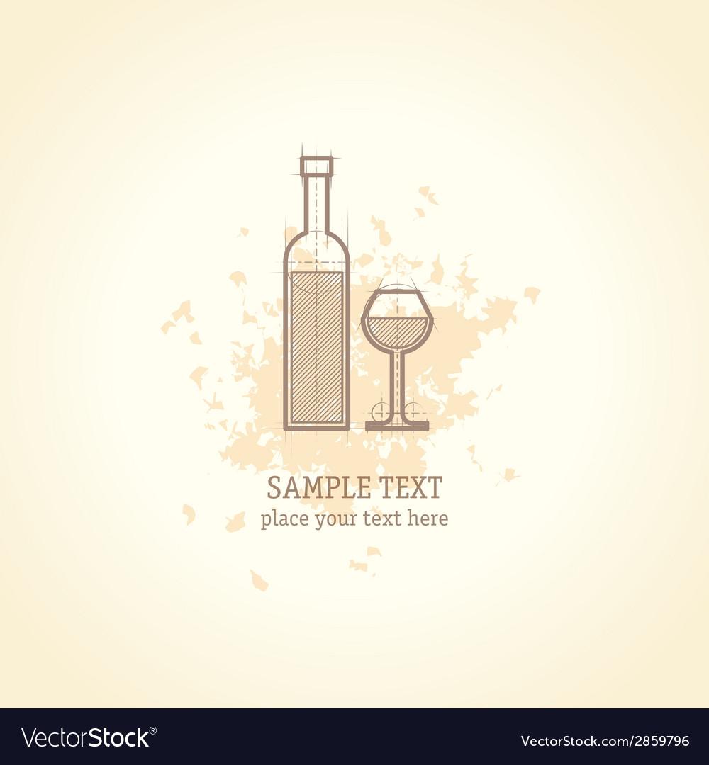 Wine list concept card vector | Price: 1 Credit (USD $1)