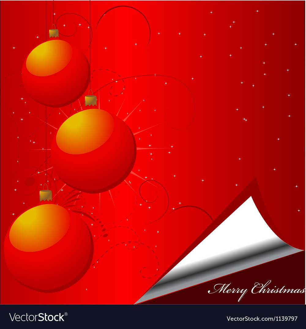 Christmas bauble background vector | Price: 1 Credit (USD $1)