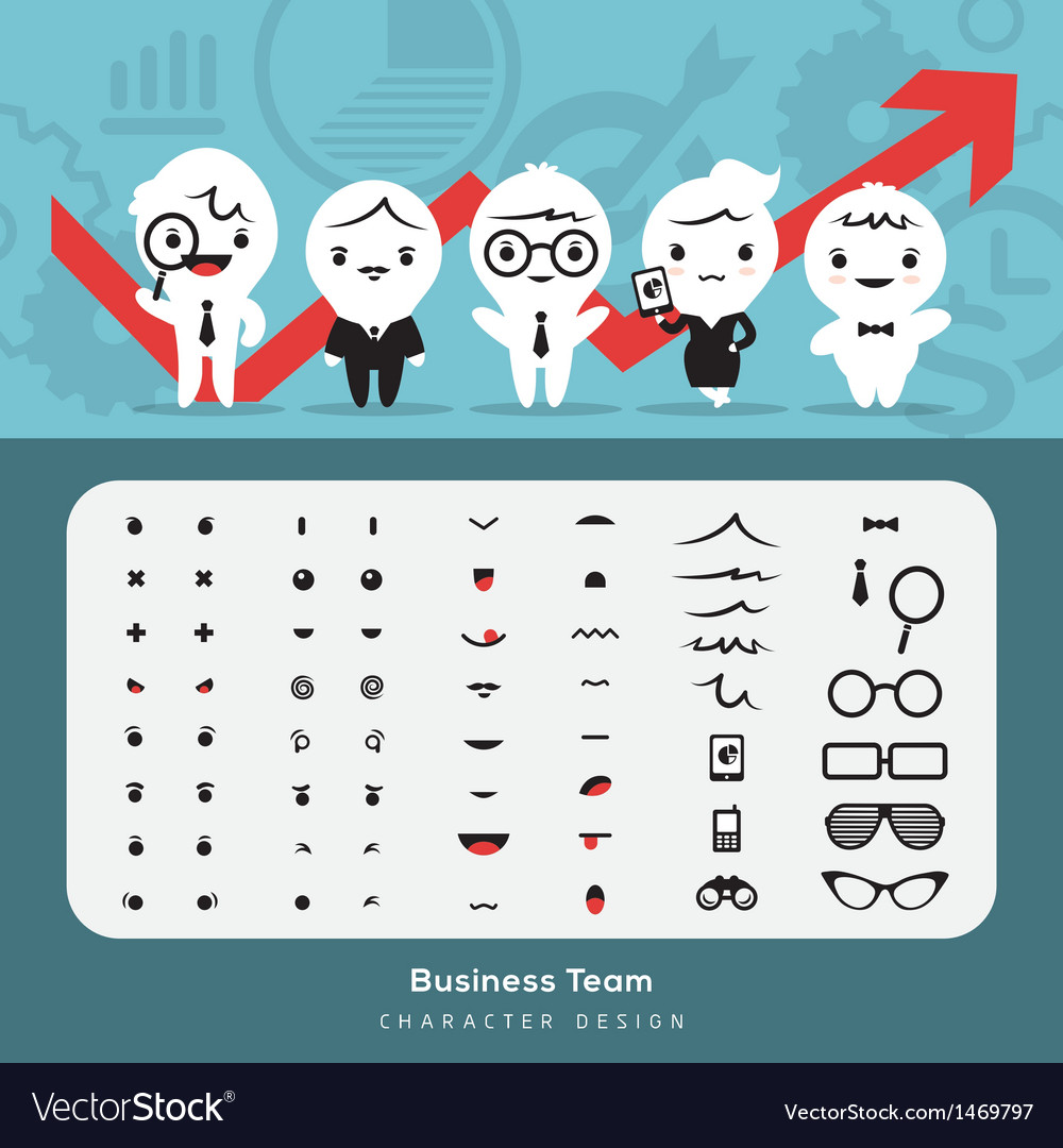 Create business team vector | Price: 1 Credit (USD $1)
