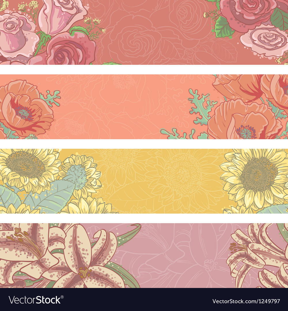 Floral banners vector   Price: 1 Credit (USD $1)