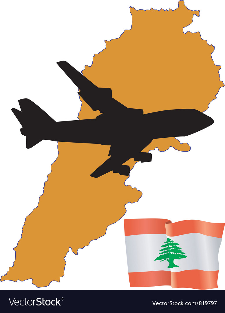 Fly me to the lebanon vector | Price: 1 Credit (USD $1)