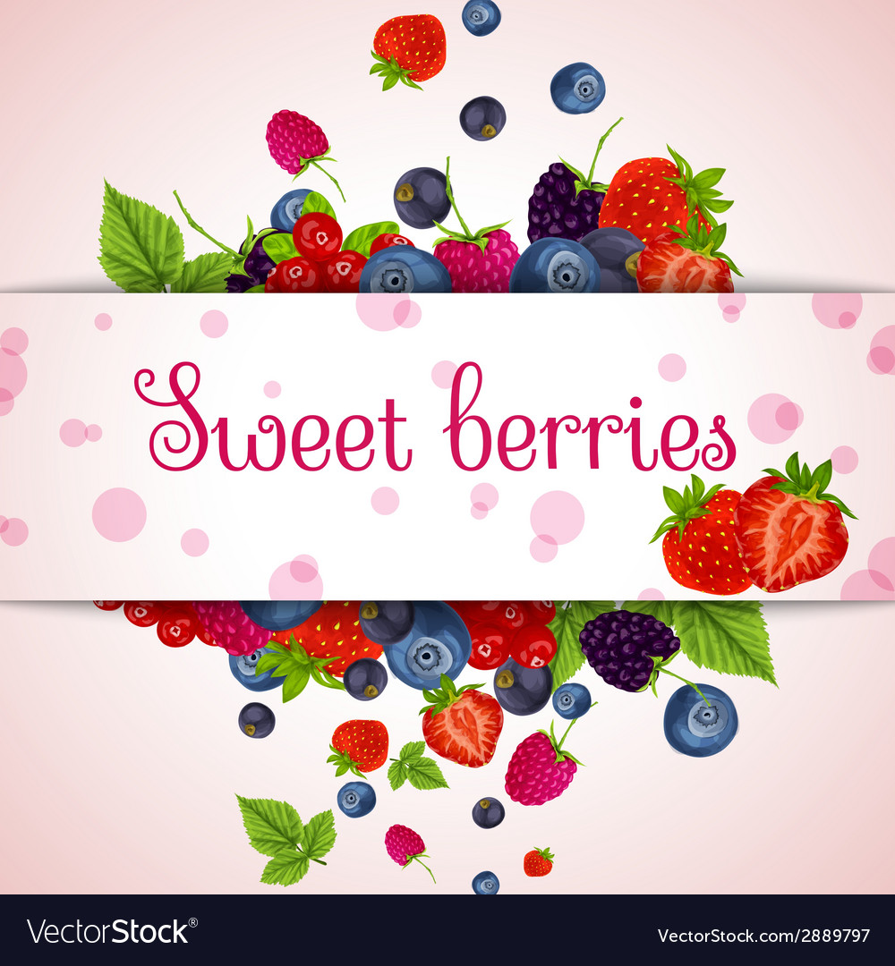 Fresh berries card vector | Price: 1 Credit (USD $1)