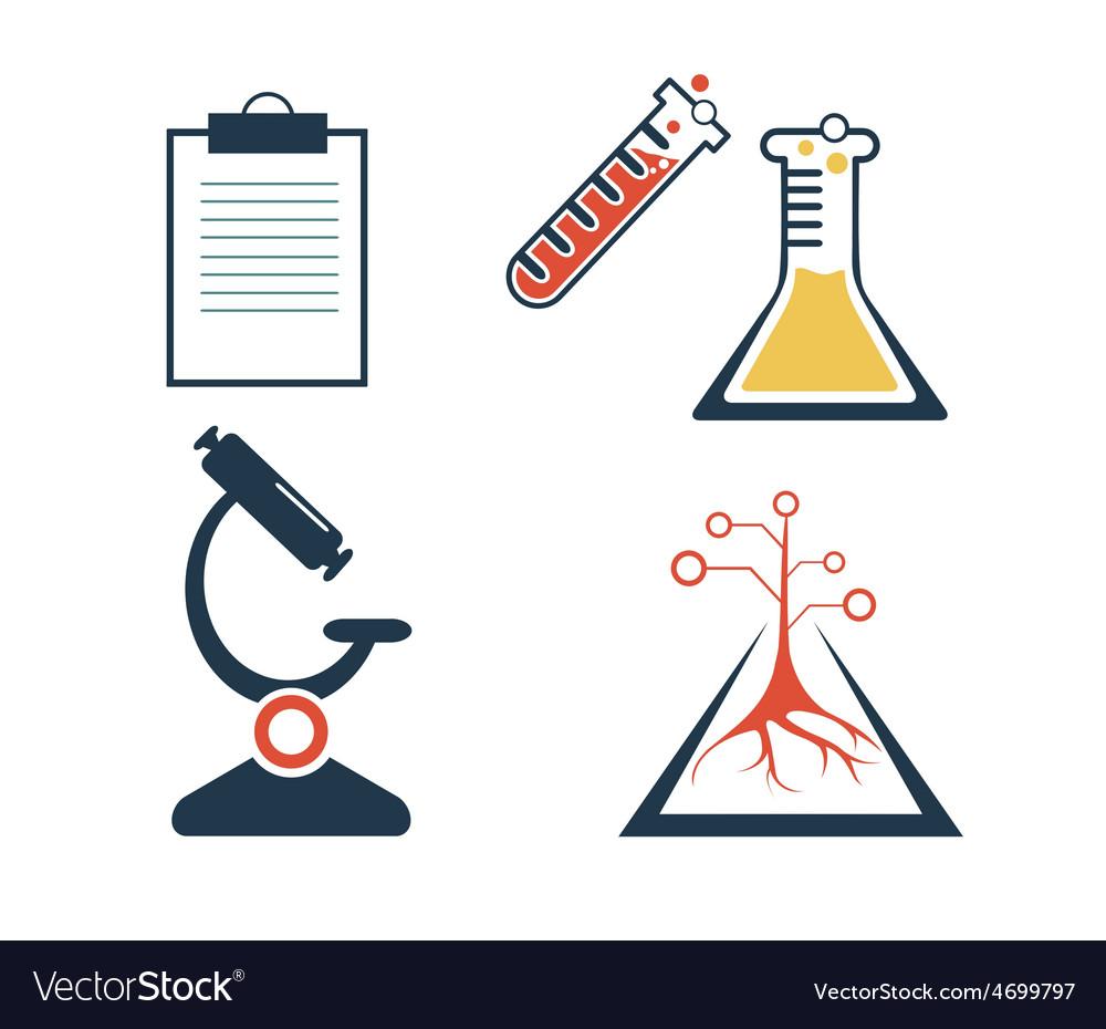 Lab icons set vector | Price: 1 Credit (USD $1)