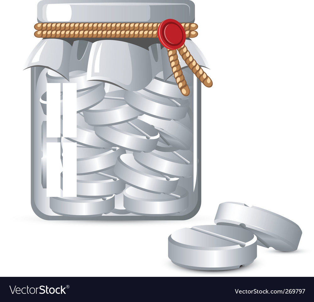 Medicine jar vector | Price: 1 Credit (USD $1)