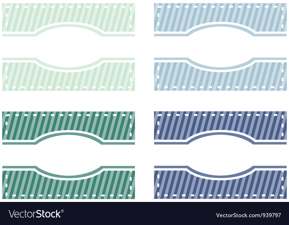 Set of elegant web buttons tags or labels vector | Price: 1 Credit (USD $1)