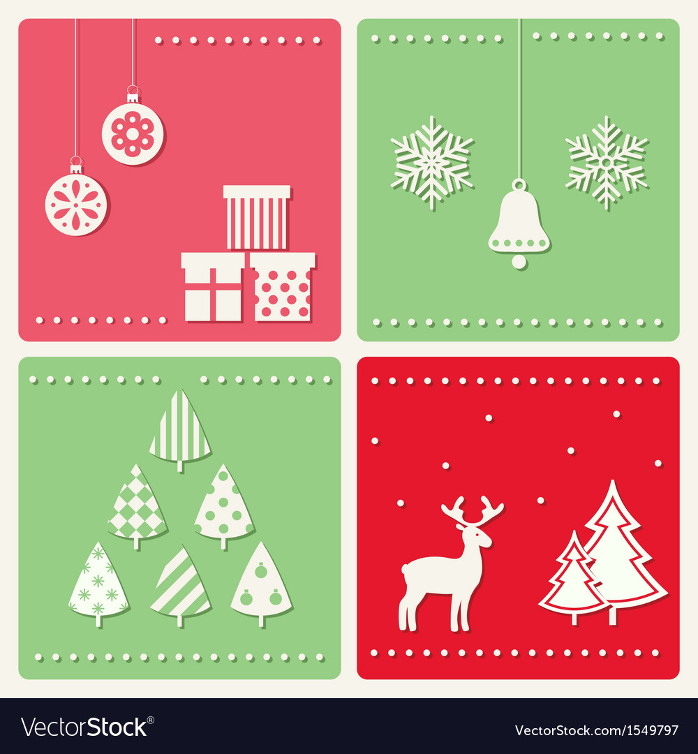 Set of winter celebration images vector | Price: 1 Credit (USD $1)