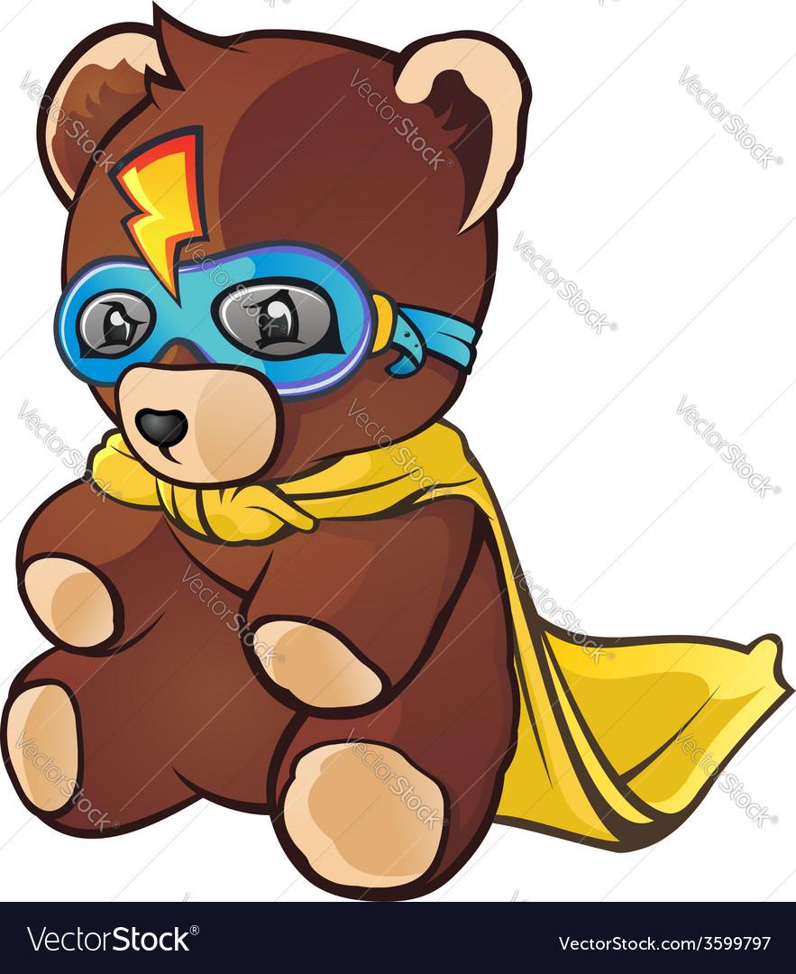 Super hero teddy bear cartoon character vector | Price: 3 Credit (USD $3)