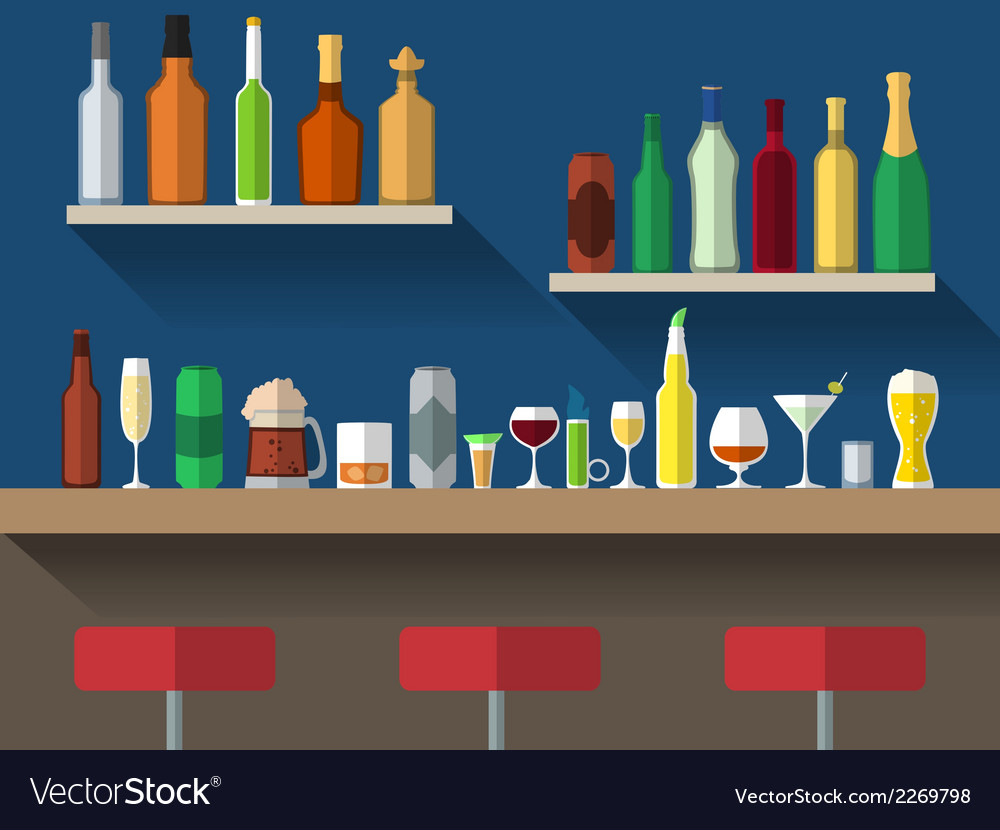 Bar counter flat vector | Price: 1 Credit (USD $1)