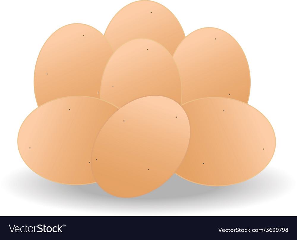 Brown eggs vector | Price: 1 Credit (USD $1)